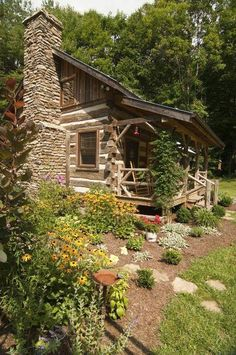 Rustic cabin in the woods...inspiration for Karly's cabin in Sweet Barbarian