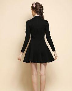 Beige Short Sleeve Lapel Plaid Mini Dress, Beige, Irina Miro | VIPme