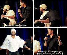 [SET OF GIFS] Jared & Jensen convention panel #DallasCon2013