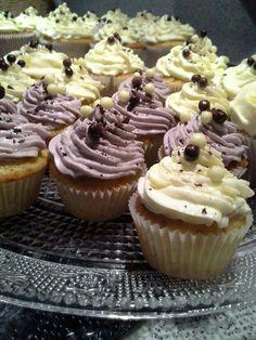 Boruvkove cupcakes <3
