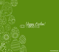 "Download the royalty-free vector ""Abstract white easter egg on green background"" designed by ngocdai86 at the lowest price on Fotolia.com. Browse our cheap image bank online to find the perfect stock vector for your marketing projects!"