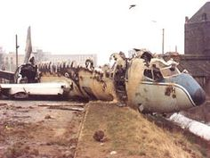 On 4 April 1978, SN Boeing 737-229C OO-SDH operated training flight with 1 instructor and 2 students. During touch-and-go at 18 :07, Gosselies apt, birds were ingested as the airplane was rotating. Instructor took over control and decided to abort takeoff. There was insufficient runway length available so plane overran, struck antennas and skidded. The right main gear collapsed and no. 2 engine was torn off in the slide. Aircraft came to rest 300m past runway end and was destroyed by fire.
