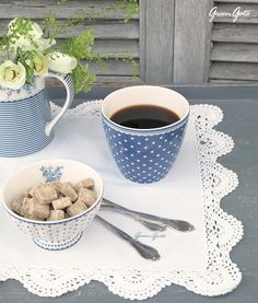It's coffee o'clock! #Greengate #Audrey #Indigo