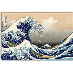 Katsushika Hokusai 'The Great Wave off Kanagawa' Gallery-Wrapped Canvas Art   Overstock.com Shopping - Top Rated ArtWall Canvas