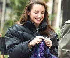 Kristin Davis! Gotta love a celebrity who knits.