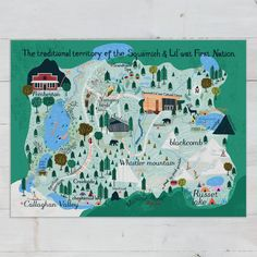 A detailed map of all my top 10 favourite things to do in Whistler. What to Do in Whistler, BC Looking for things to do in Whistler in summer + winter. Some of the top things to do in Whistler with beautiful views #canada #vancouver #britishcolumbia #whistler #whistlerBC Alta Lakes, Sea To Sky Highway, Lakeside Park, Alpine Lake, Canoe And Kayak, Canadian Artists, Whistler, First Nations, Map Art