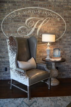 Superbe Hair On Hide Chair. Lamps. Gray Leather.