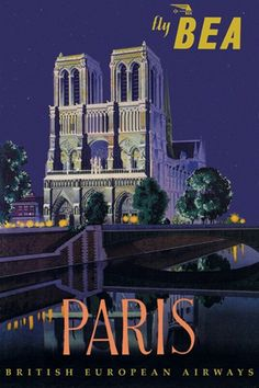 BEA - Paris and Notre Dame Cathedral  Fine-Art Print