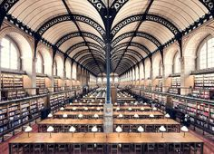 Library Architecture, Architecture Design, Expos Paris, Henri Labrouste, St Genevieve, Beautiful Library, French Photographers, Photo Series, Library Of Congress