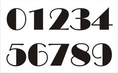 NUMBERS **STENCIL*** Set 1006 - 0-9- 4 sizes available- Create Table Numbers, Address Signs and Birthday Signs!
