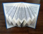 Folded Book Art - Book folded into Geometric Diamond Design
