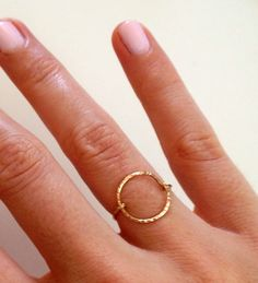 Hammered Circle Ring on Etsy