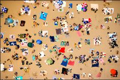 The beach from above by Andreas Gursky.
