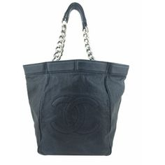 34a2195ab2cf Pre-owned Chanel Tote Chanel Shopper, Shopper Tote, Large Black Tote Bag,