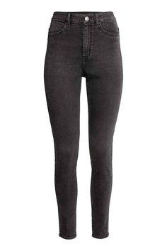 Super Skinny High Jeans - Sötétszürke - NŐI   H&M HU 1