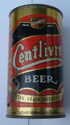 Rare Centlivre Beer can from Centlivre brewing company, Fort Wayne, Indiana Beer Company, Brewing Company, Beer Can Collection, Old Beer Cans, Beer Mats, Local Brewery, Beers Of The World, All Beer, Beer Brands