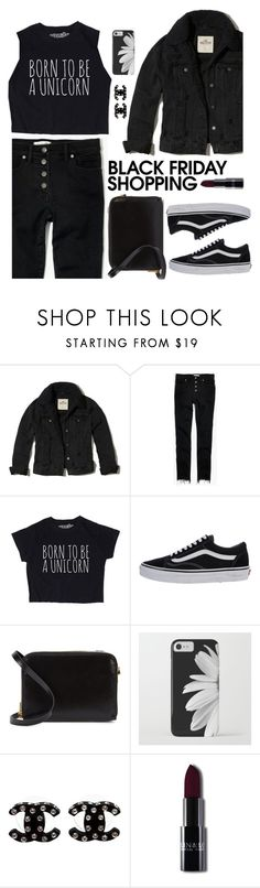 """""""Black Friday"""" by genovevajc ❤ liked on Polyvore featuring Hollister Co., Madewell, Vans, Sophie Hulme and Chanel"""