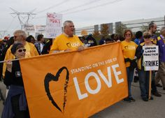 Standing on the side of love with striking Walmart workers in Elwood, IL.