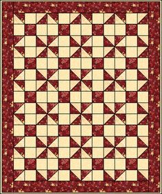 Calico Puzzle - Page 2 TUTORIAL  11/01/14  Picture this in purple, red, yellow, turquoise