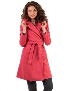 "Palton ""Hold Me Close"" Fucsia Coat, Jackets, Fashion, Down Jackets, Moda, Sewing Coat, Fashion Styles, Peacoats, Fashion Illustrations"