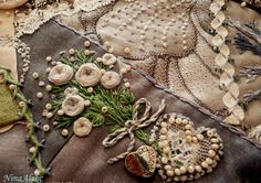 I ❤ crazy quilting, beading & embroidery . . . (translated) More details. ~By NinaAlekc