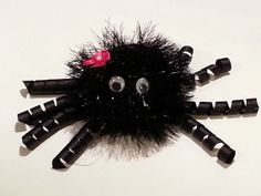 Spooky Halloween Spider Hair Bow by TheFROGBoutique on Etsy, $6.00