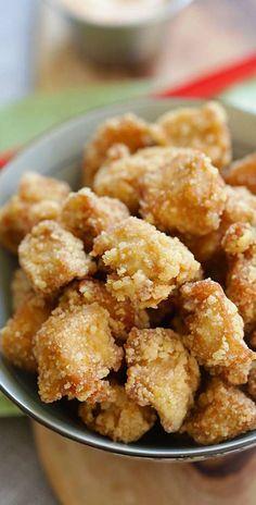 Chicken Karaage - crispy Japanese sesame fried chicken nuggets, the best chicken karaage recipe that is better than Japanese restaurants | http://rasamalaysia.com