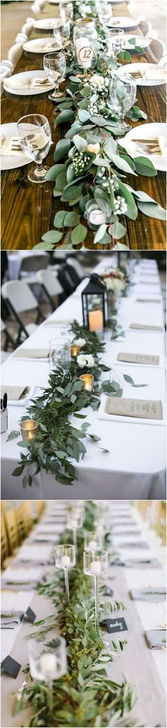 garland greenery wedding centerpiece ideas 2 #weddingtrends #weddingideas #weddingdecor #weddingcenterpiece #greenerywedding