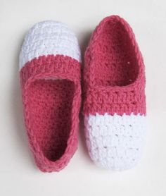 Two Tone Ballet Slippers « The Yarn Box