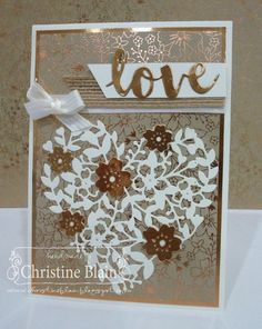 "HAPPY HEART CARDS: STAMPIN' UP! AFFECTIONATELY YOURS ""LOVE"" CARD"