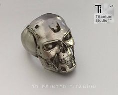 3D printed titanium skull ring. Not for reproduction but purely to showcase our 3D printed titanium ability.