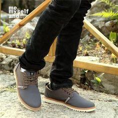 Men s Fashion Genuine Leather Suede Casual Shoes 3 Colors. Lässige  TurnschuheHerrenschuheMännerschuheExtravagante ... 17cdeb2760