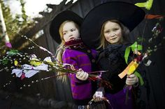 """""""A twig for you, a treat for me!"""" Easter witches appear on doorsteps in Finland on Palm Sunday or Easter Saturday."""