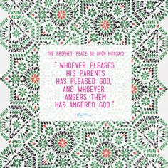 Prophet Muhammad quotes on Parents