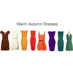 """Warm Autumn Dresses"" by katestevens on Polyvore"