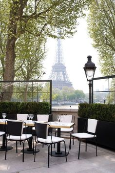 Paris. Love the view of the Eiffel Tower.