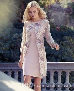 Elegant With Lace Jacket Tea Length Mother Of The Groom Dresses Square Long Sleeve Satin For Wedding Evening Gowns