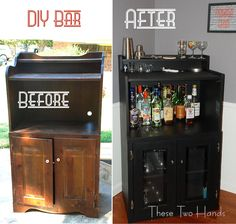 Use your old hand-me-down furniture or that dusty old stuff in your garage to upcycle them into shabby chic bar carts for your pad.