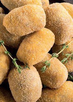 Croquetes de alheira de Caça com Castanhas e Cogumelos