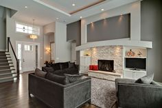 Contemporary home build by Lecy Bros. Homes of Minnesota.