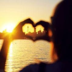 Love for Sydney sunsets on tuulavintage.com @Sydney Martin Australia #IloveSydney