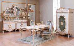 Furkan Lüks Klasik Yemek Odası Takımı. #YemekOdası #DiningRoom #Decoration #Ev #Dekorasyon #Moda #Mobilya #Furniture