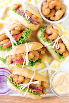 Mini Spicy Shrimp Po' Boys