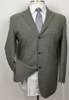 Men's Clothing Clothing, Shoes & Accessories Enthusiastic 46l Nwot Joseph Abboud Mens 3 Button Wool Suit Beige Herringbone Pants 40