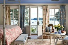 New Home Interior Design: Shingle style: capturing the view Traditional Home Magazine, Traditional Interior, Traditional House, Traditional Bedroom, Blue Bedroom, Bedroom Decor, Bedroom Ideas, Bedroom Styles, Bedroom Designs