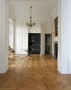 parquet flooring Charlecotes Interiors near Winchester in Hampshire, suppliers and installers of fine quality engineered flooring, floorboards, and solid wear top layer Wood Floor Design, Inexpensive Flooring, Home, House Styles, Interior, Oak Floorboards, Engineered Flooring, House, Floor Design