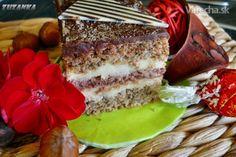 Orechový koláč s Indiánom a krémom ganache (fotorecept) - Recept