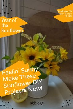 Tips on creating your fresh sunflower flower design with these sunflower DIY projects for your won Home Decor. Sunflower diy crafts, Sunflower DIY Decor, Year of the Sunflower Sunflower House, Sunflower Head, Sunflower Flower, Growing Sunflowers, Grow Your Own Food, Food Gifts, Cut Flowers, Garden Planning, Bird Feeders