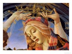 The Madonna of the Magnificat, Detail of the Virgin's Face and Crown, 1482 Giclee Print by Sandro Botticelli at AllPosters.com