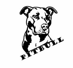 Pitbull Decals for Cars and Walls:  Dog Lover by ArtisticAttires